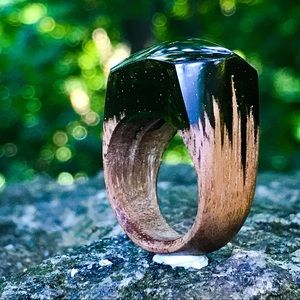 Handmade Wood and Resin Ring